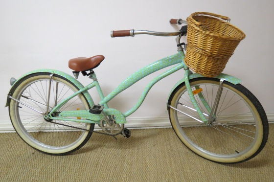 Cynthia Rowley Bicycle-the Best way to see Charleston!