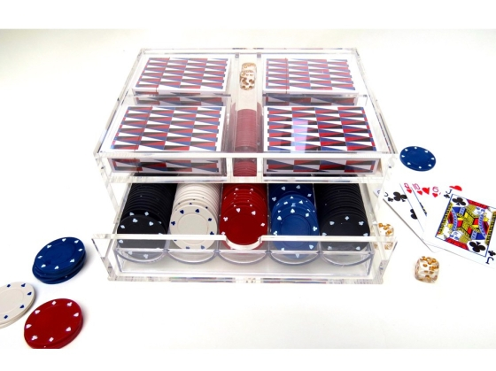 Acrylic poker set card caddy.001